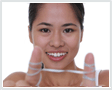 Image of woman flossing